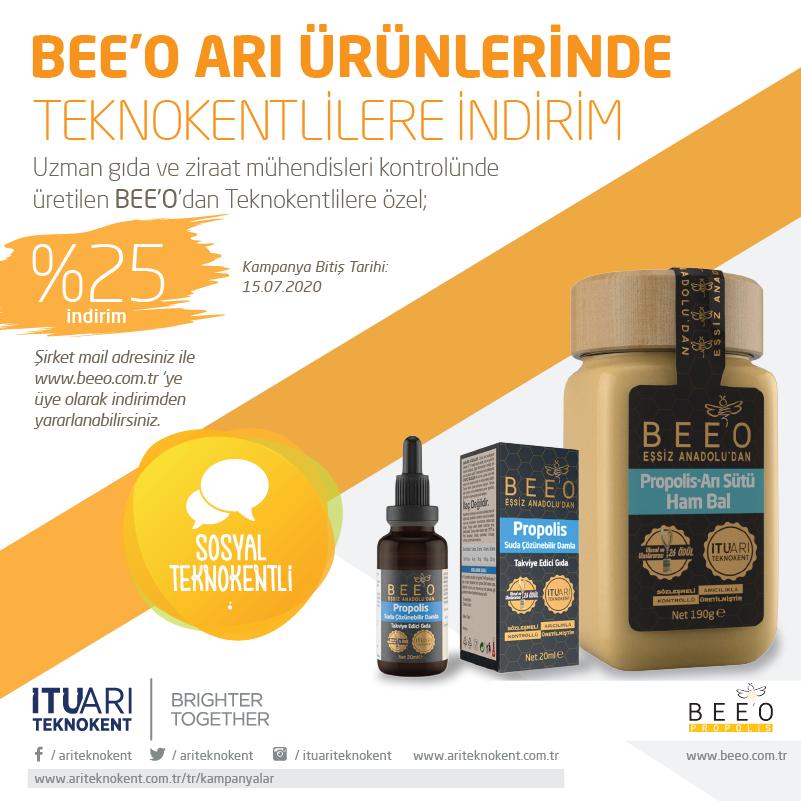 Bee'O ARI Ürünlerinde Teknokentlilere Özel İndirim