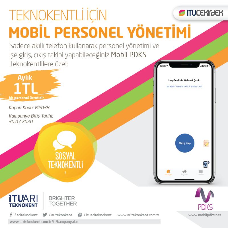 Teknokentli için Mobil Personel Yönetimi
