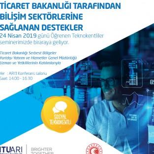 Ticaret Bakanlığı tarafından Bilişim Sektörlerine Sağlanan Destekler