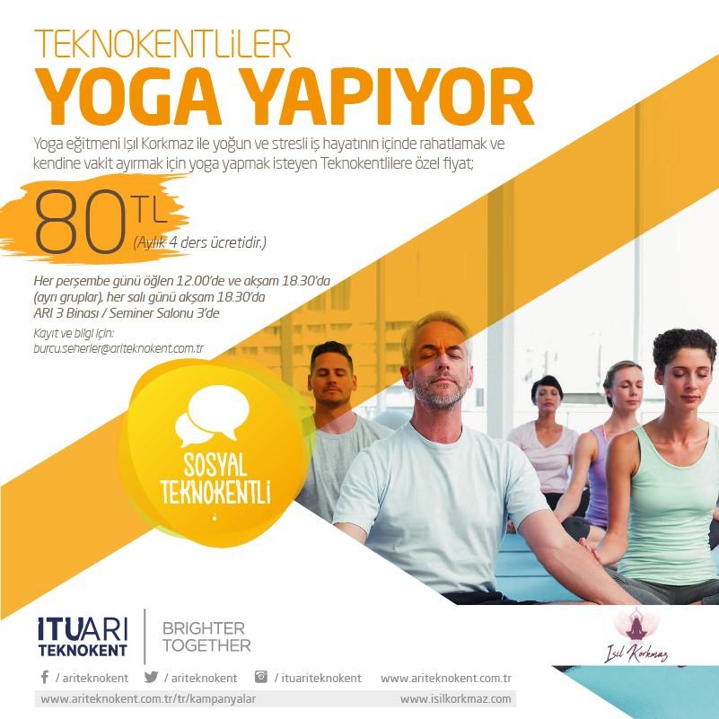 Teknokentliler Öğle Tatilinde Yoga Yapıyor