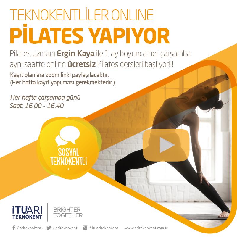 Teknokentliler Online Pilates Yapıyor