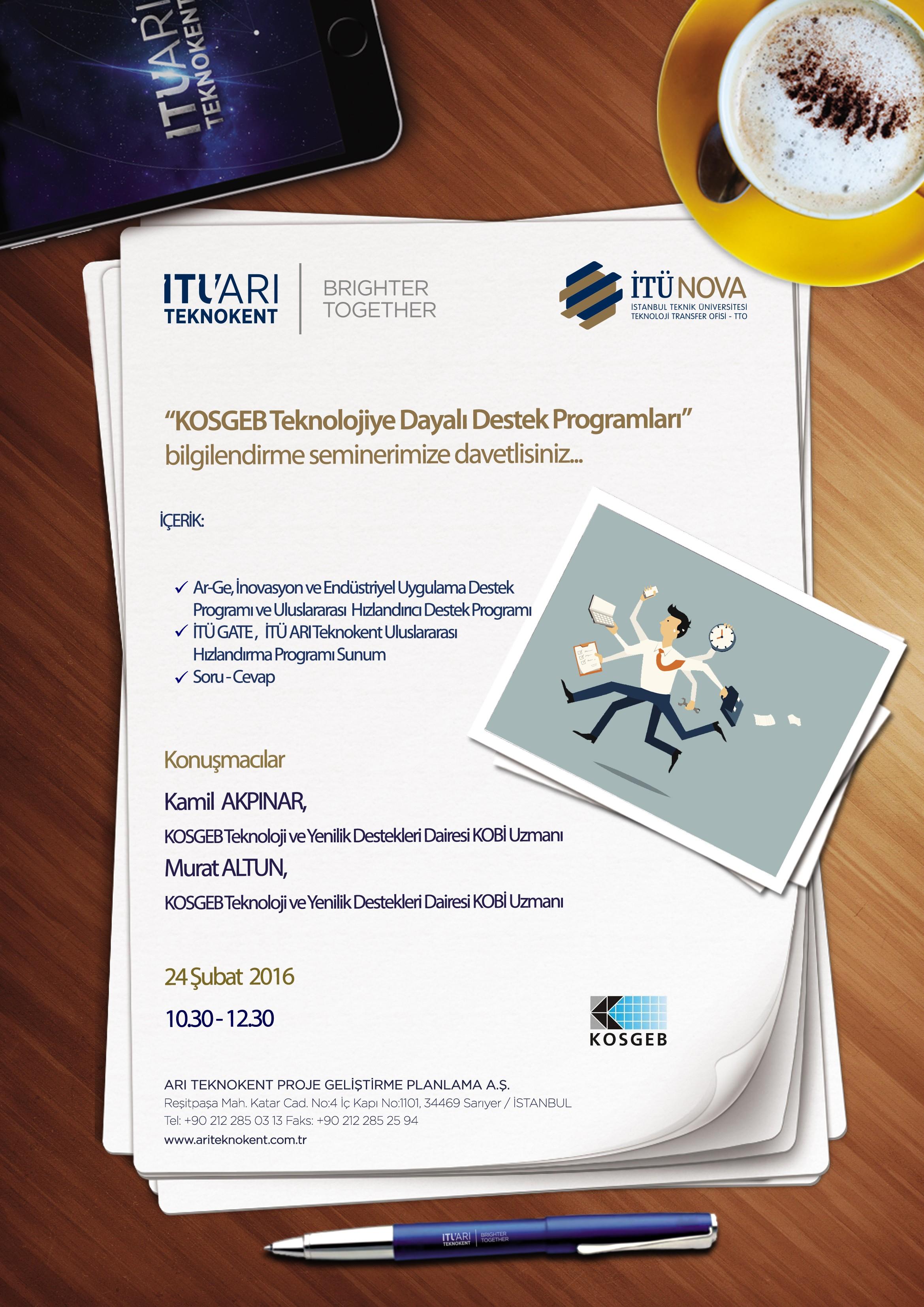 KOSGEB Teknolojiye Dayalı Destek Programları