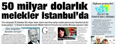 50 MİLYAR DOLARLIK MELEKLER İSTANBUL'DA
