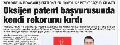 OKSİJEN PATENT BAŞVURUSUNDA KENDİ REKORUNU KIRDI