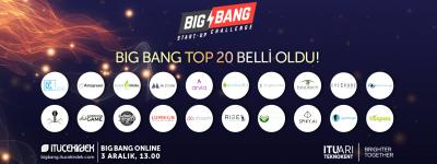 BIG BANG 2020'NİN EN İYİ 20 GİRİŞİMİ BELLİ OLDU