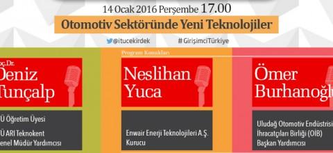 İTÜ Çekirdek İle Girişimci Türkiye 14 Ocak 2016