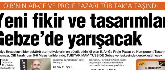 OİB'in PROJE PAZARI TÜBİTAK'A TAŞINDI!