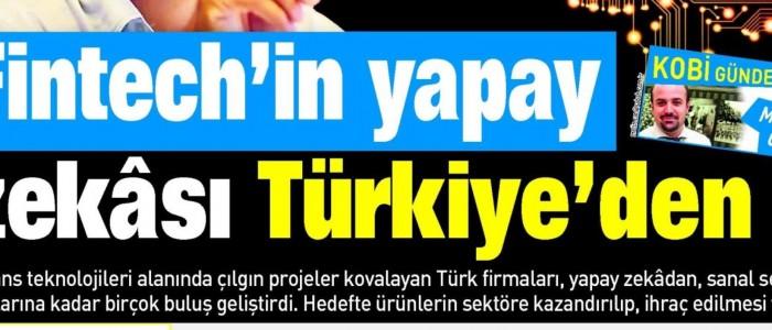 FINTECH'IN YAPAY ZEKASI TÜRKİYE'DEN