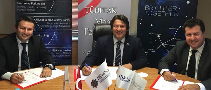 İTÜ ARI Teknokent ve İTÜNOVA TTO, TÜBİTAK MARTEK ile İşbirliği Protokolü İmzalandı.