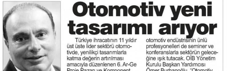 OTOMOTİV YENİ TASARIMI ARIYOR